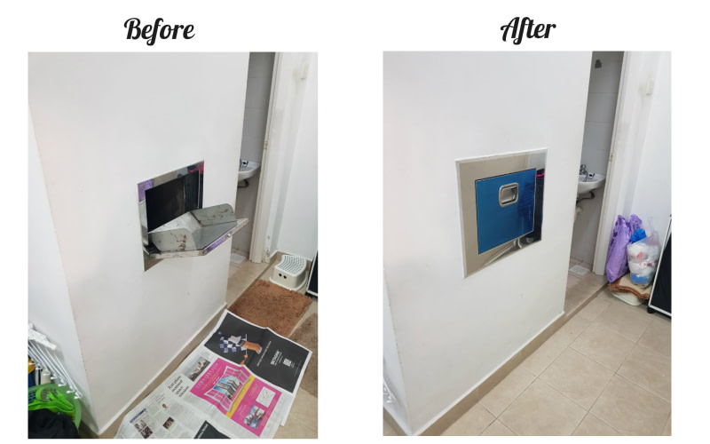 condo rubbish chute replacement