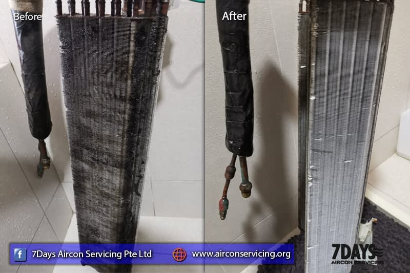 cleaning aircon outdoor unit